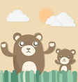 teddy twins vector image