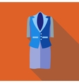 Women classic suit icon flat style vector image