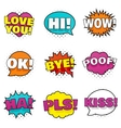 Bright colorful stickers vector image