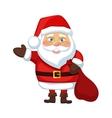 Santa Claus waves vector image