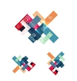 Set of abstract geometric paper graphic layouts vector image vector image