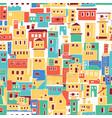 sunny mediterranean town village pattern vector image