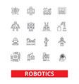 robotics android cyborg robot factory vector image