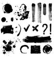 grayscale blots vector image vector image