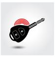 Car remote key symbol vector image