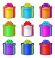 gift box round vector image vector image
