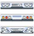Front and Rear Car Part vector image