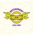logo eco restaurant cafe Local farm vector image
