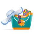 beach bag for women stock vector image