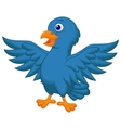 Blue bird cartoon vector image