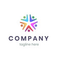 company logo design template trendy sign for vector image