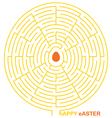 easter maze vector image