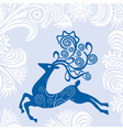 Happy new year card deer vector image
