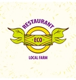 logo eco restaurant cafe Local farm vector image