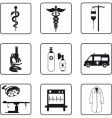 medical symbols and equipment vector image