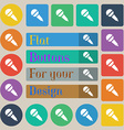 Microphone icon sign Set of twenty colored flat vector image