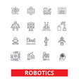 robotics android cyborg robot factory vector image