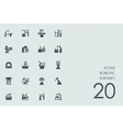 Set of robotic surgery icons vector image