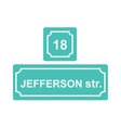 Street sign or house number vector image
