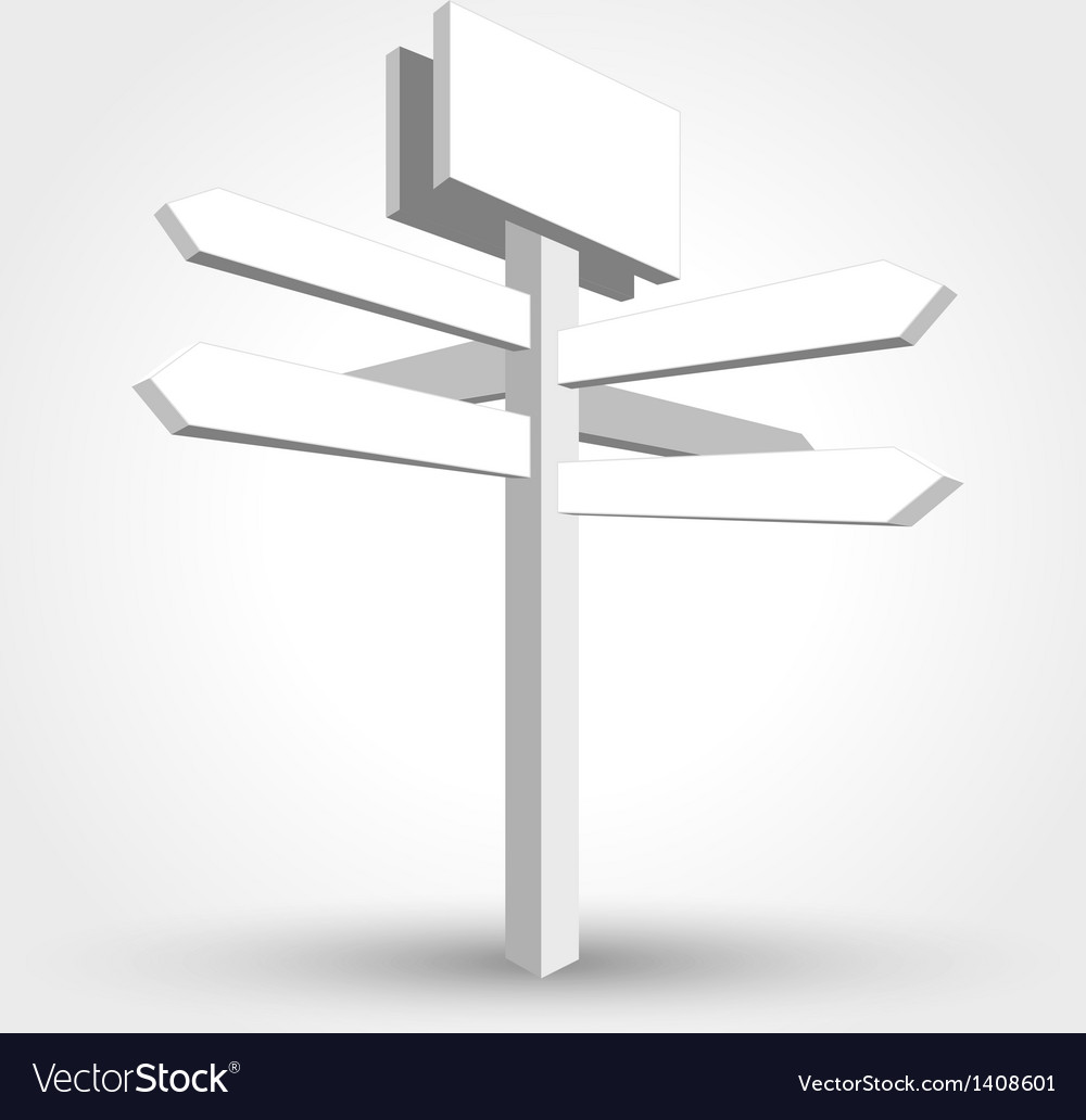 Abstract waymark vector