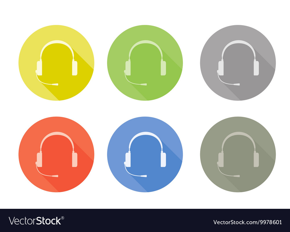 Icon set of sale or service support with vector