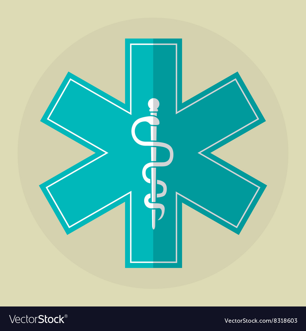 Caduceus icon design vector