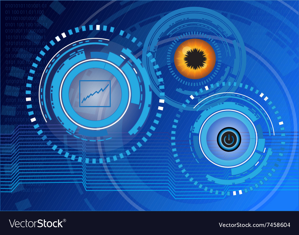 Future technology digital background vector