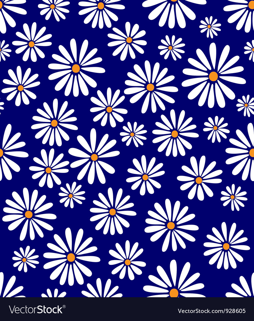 Doris day flower on lapis vector