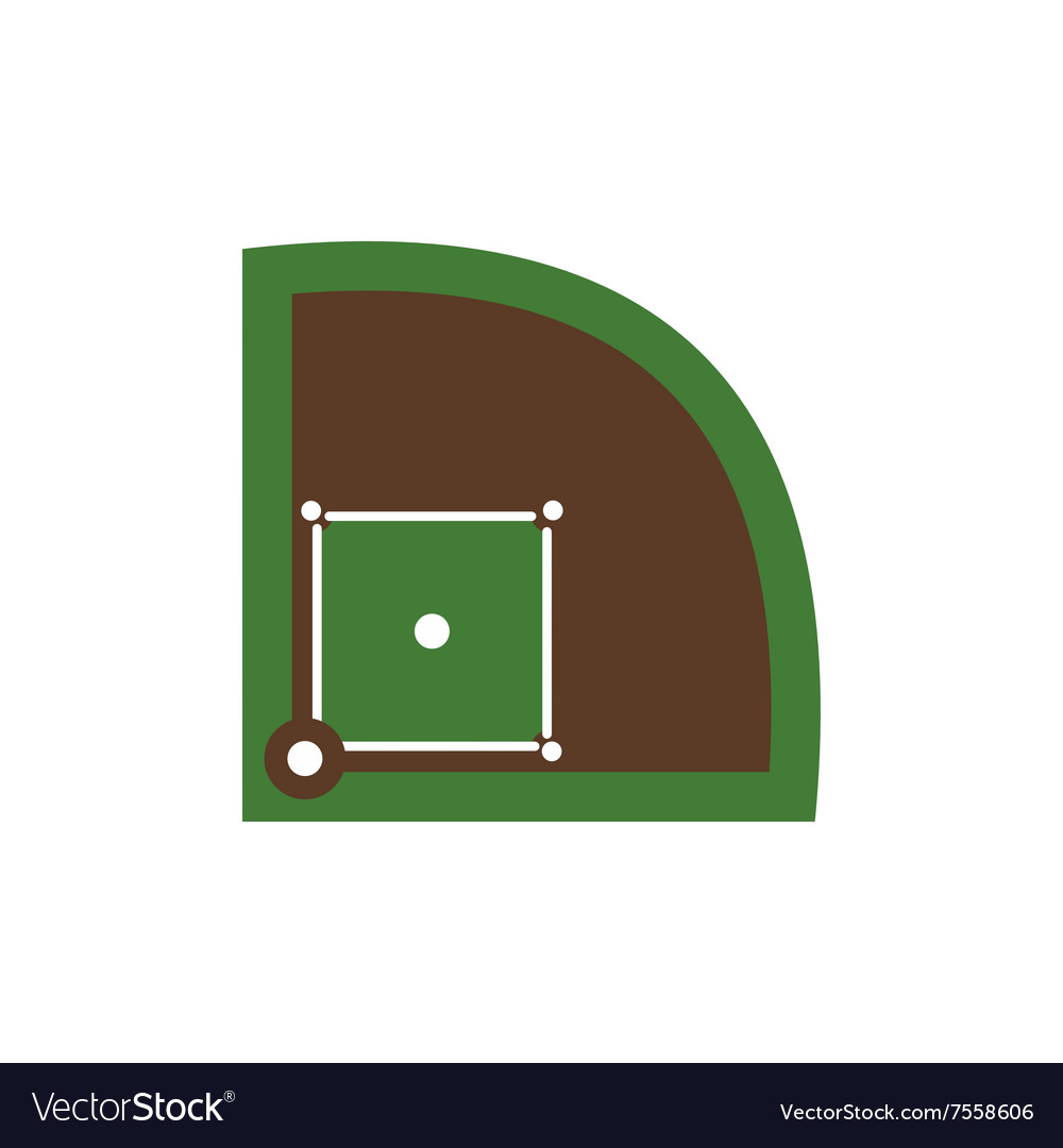 Baseball field flat icon vector