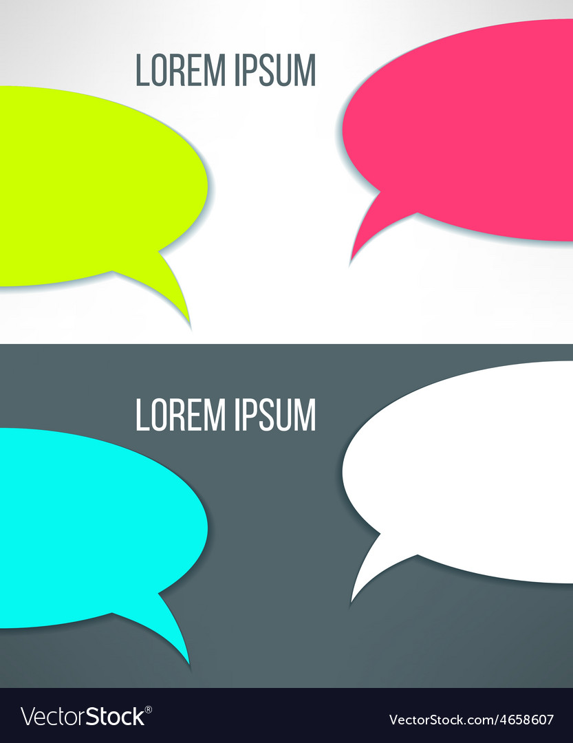 Conversation background in stylish bright vector