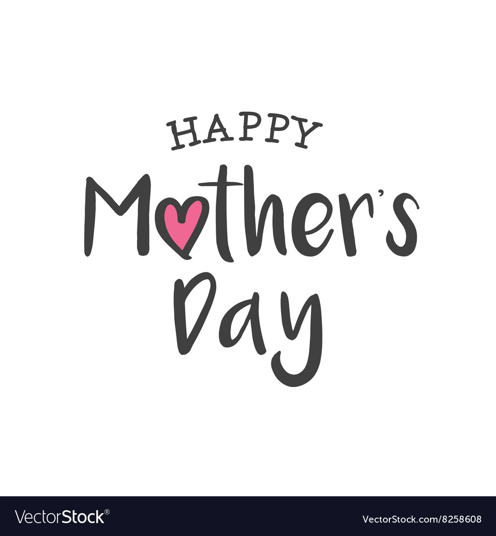 Happy mothers day logo card vector