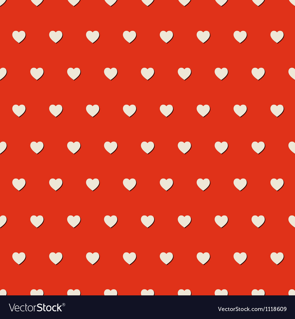 Seamless heart background vector