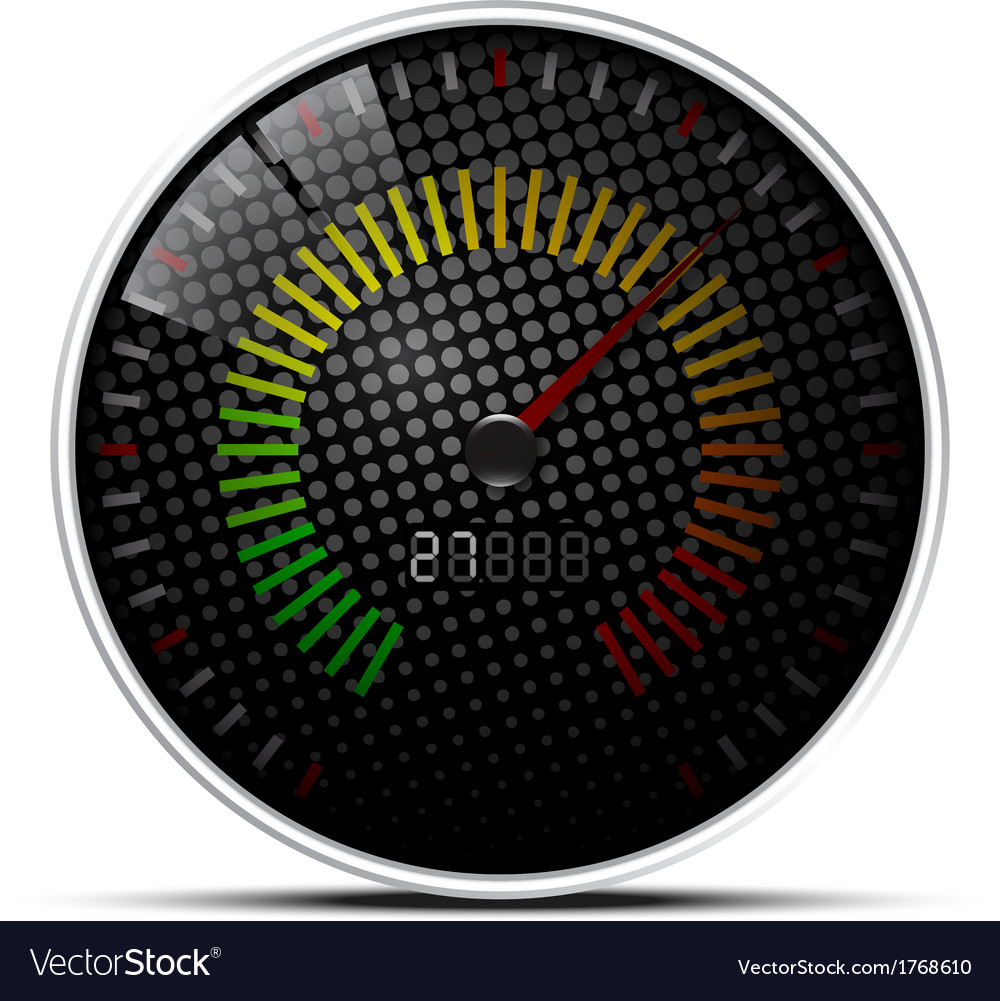 Black speed meter vector