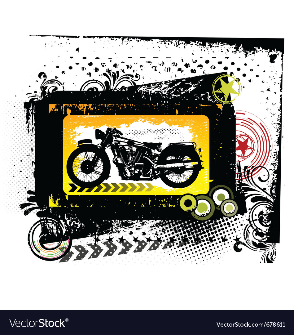 Grunge motorcycle  background vector