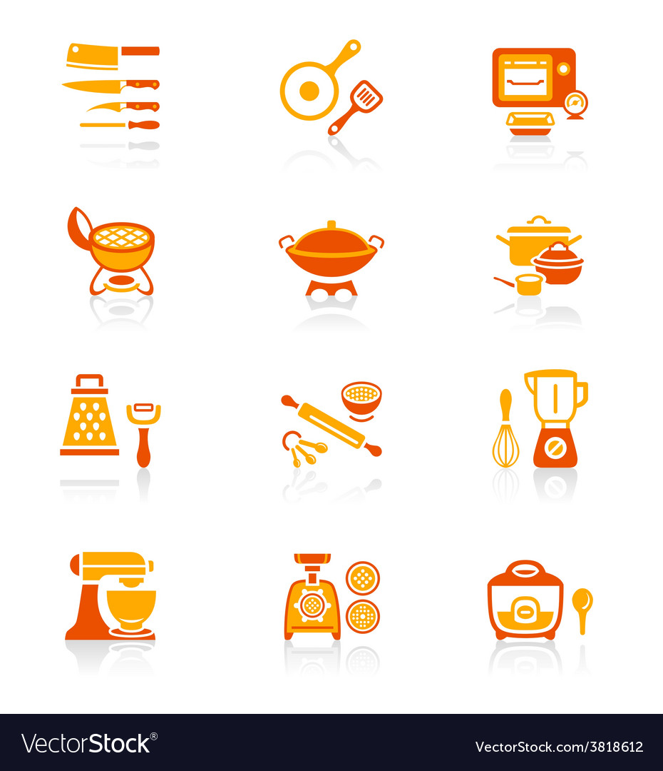 Cooking set  juicy series vector