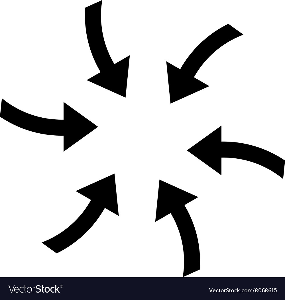 Twirl arrows flat icon vector