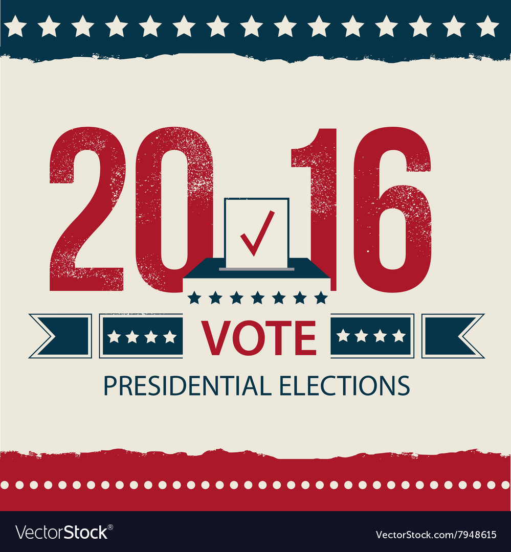 Vote presidential election card presidential vector
