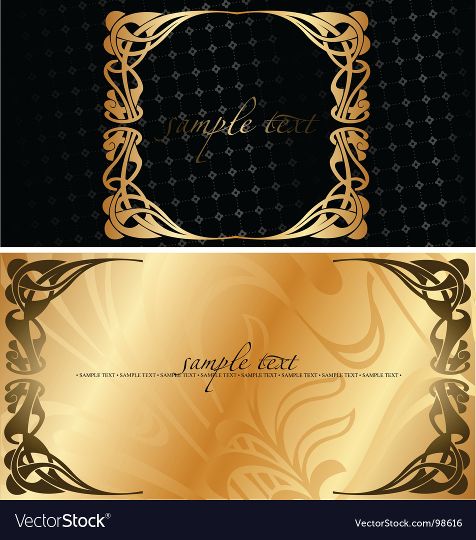 Black and golden cover background vector