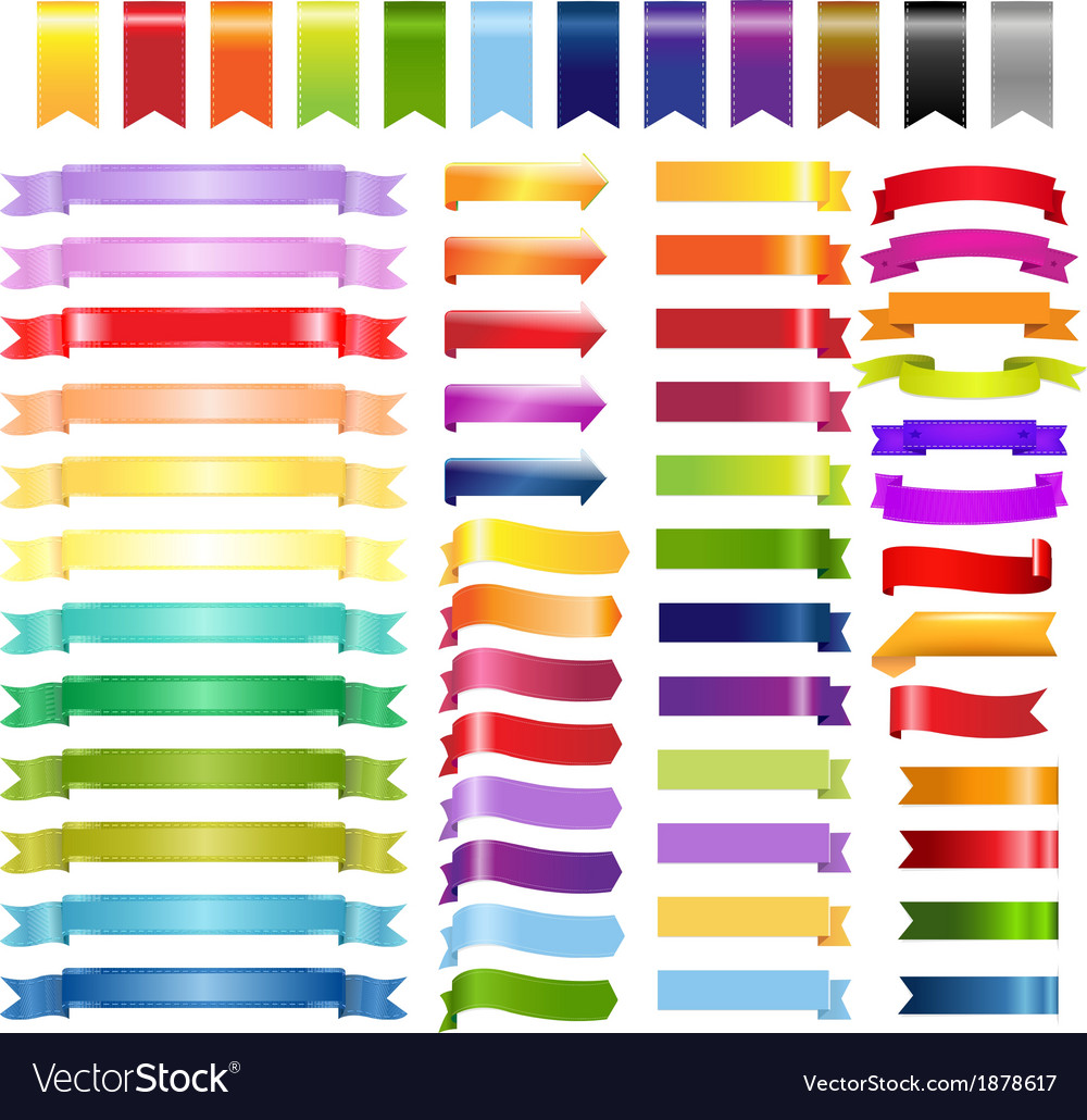 Big color web ribbons and arrows vector