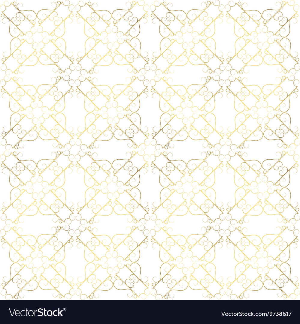 Vintage seamless gold pattern victoian vector