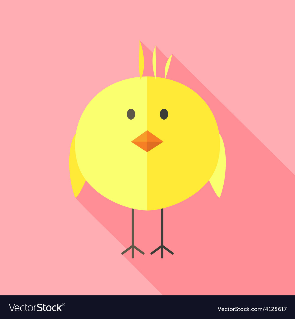 Yellow chicken vector