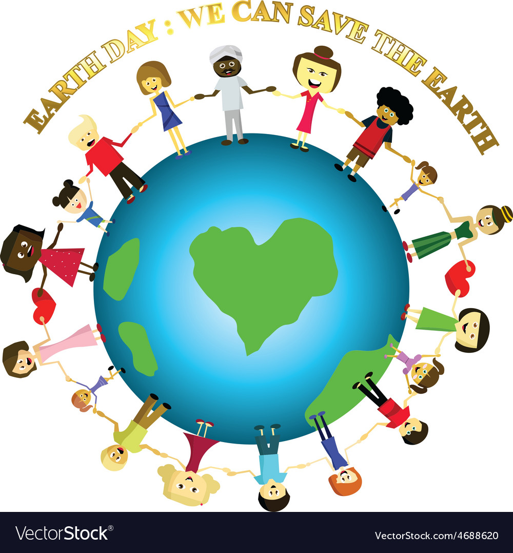 People save the earth vector
