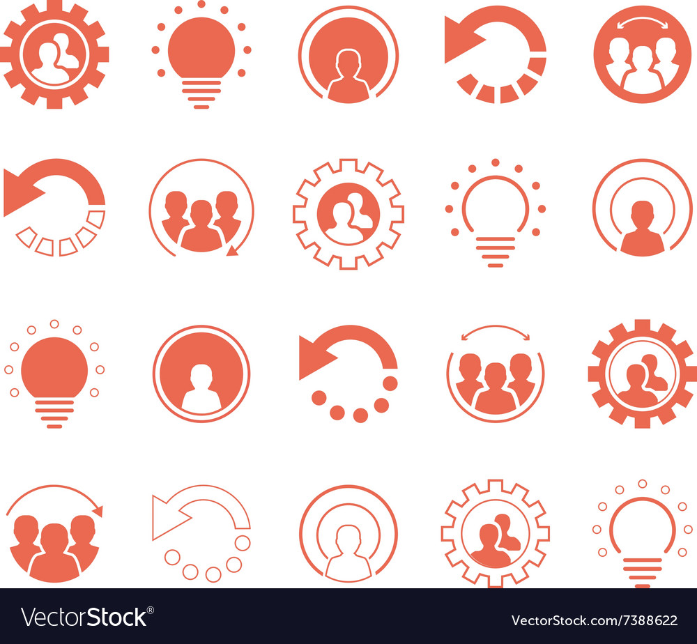 Collection of graphic elements and icons vector
