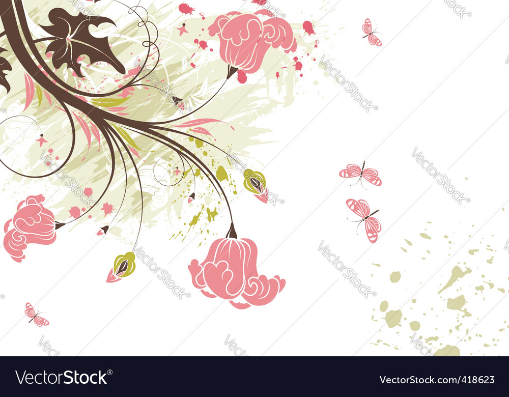 Floral theme vector