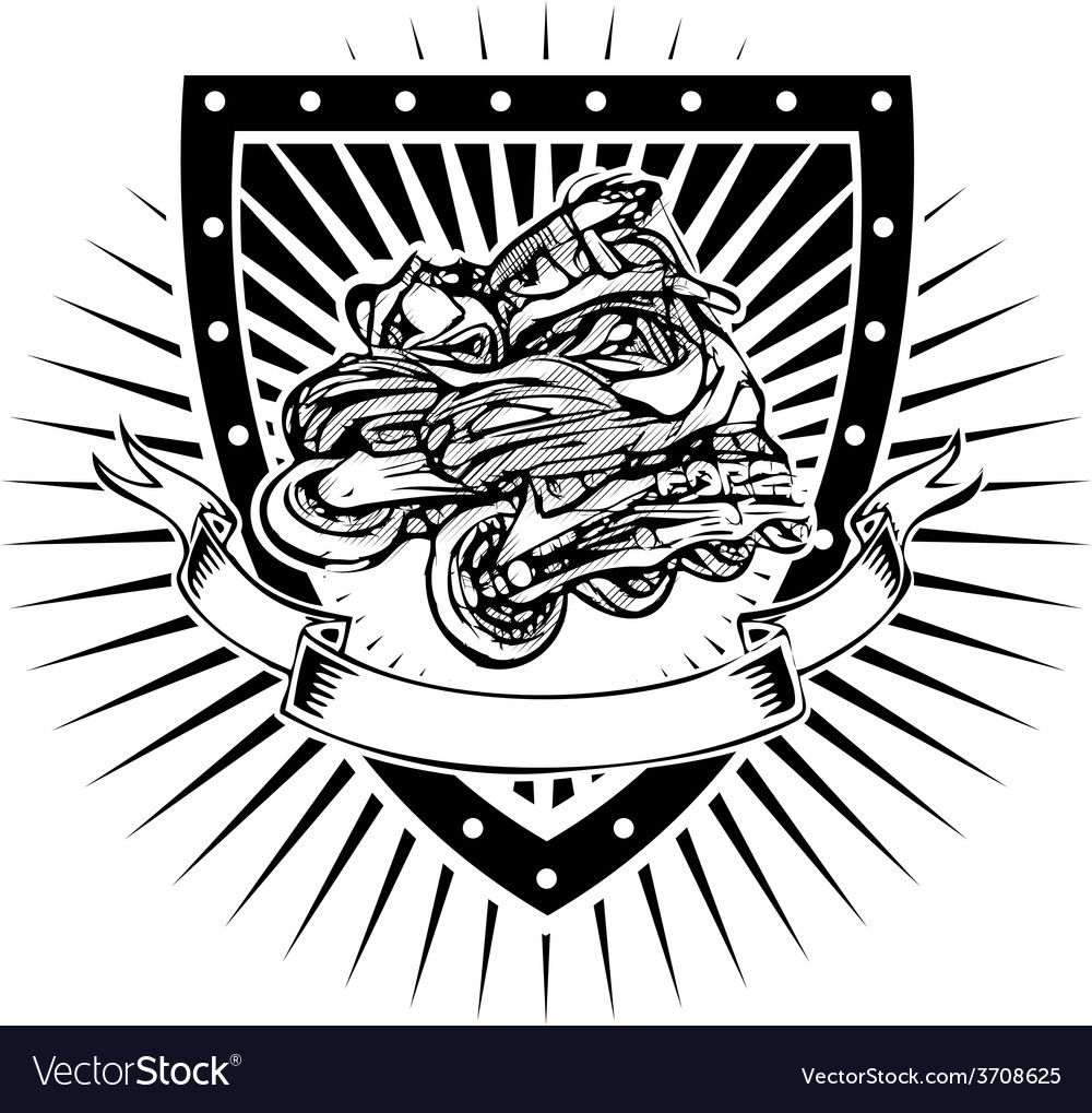 Inline shield vector