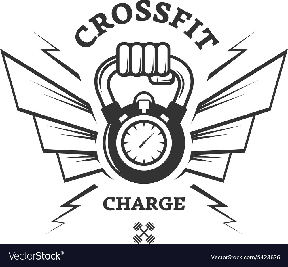 Crossfit workouts for a while vector