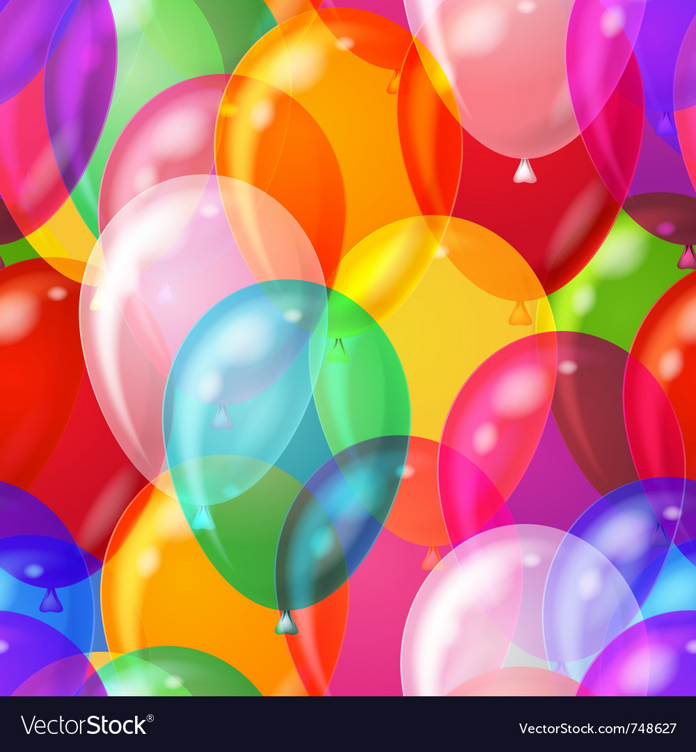 Balloon background seamless vector
