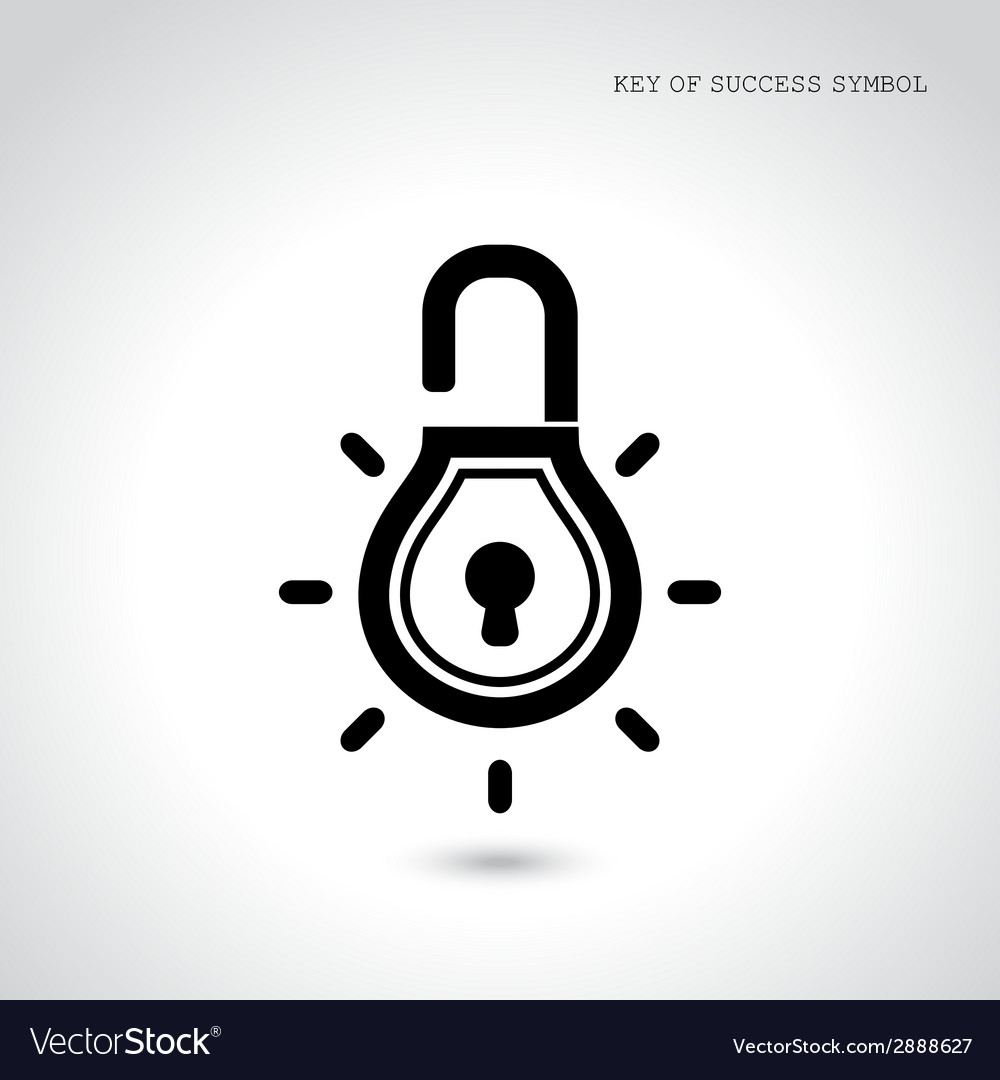 Creative light bulb idea concept with padlock sign vector