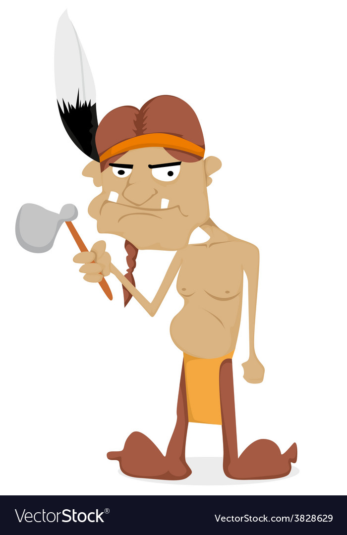 Cartoon indian vector