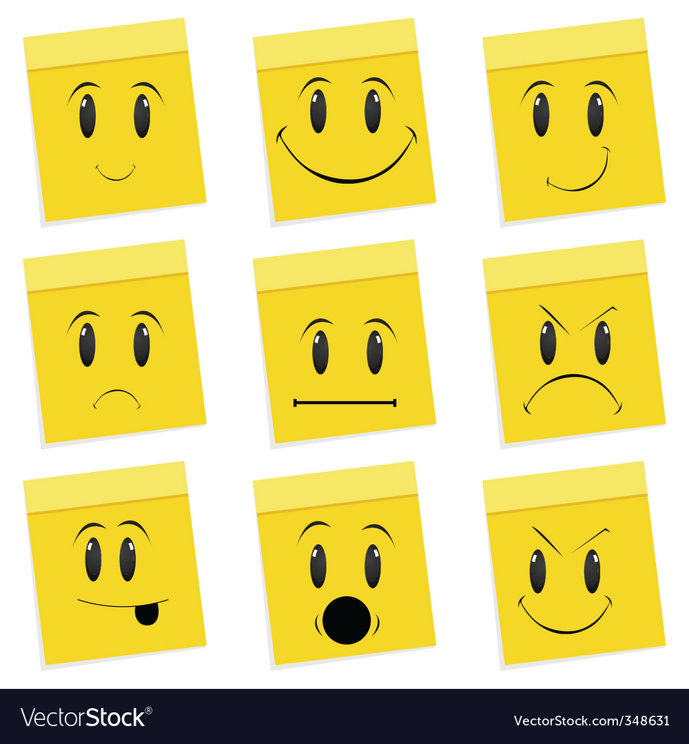 Various face expressions vector